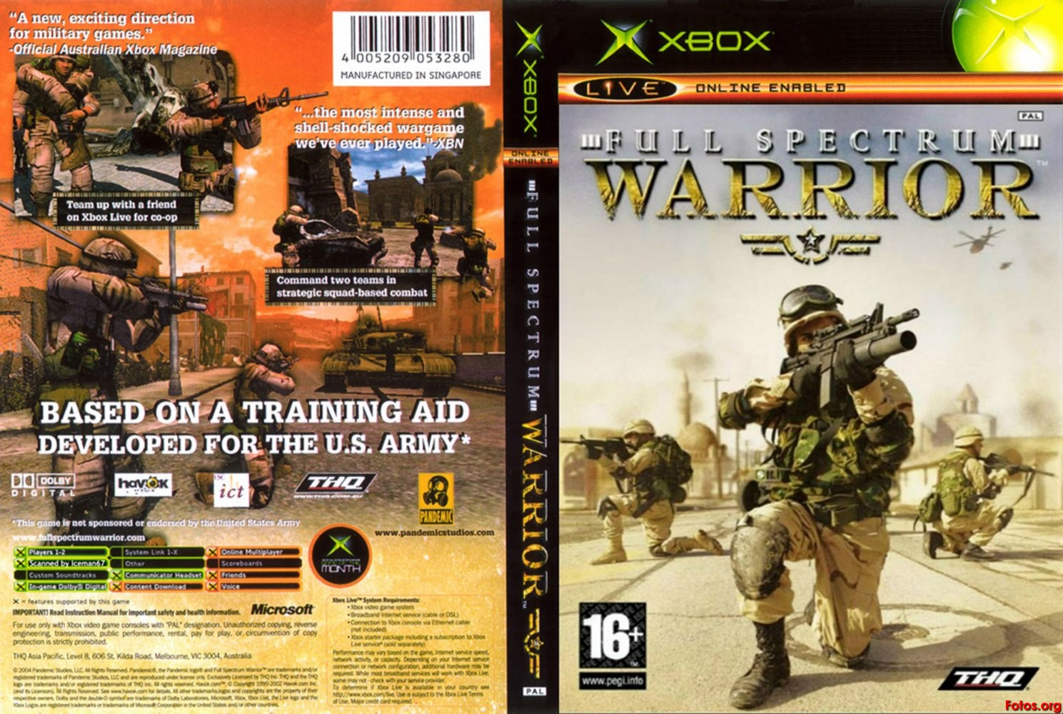 Full Spectrum Warrior (2004, Xbox, PS2, PC)
